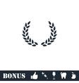 Laurel wreath icon flat vector image vector image