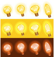 light bulb set vector image
