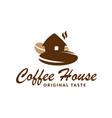 logo coffee house vector image