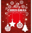 Merry christmas shopping vector image