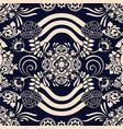 monochrome seamless pattern ethnic motive vector image vector image