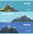 mountaineering agency flyers with high peaks vector image