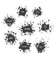 paint splat set vector image vector image