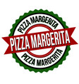 pizza margerita label or sticker vector image vector image