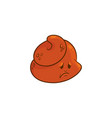 poop cartoon character - sad and upset emoticon of vector image vector image