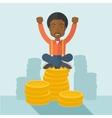 Proud African american businessman vector image vector image