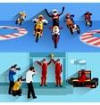 Racing Banners Set vector image vector image
