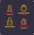 real-life room escape the logo for the quest room vector image vector image
