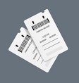 realistic detailed 3d parking tickets set vector image