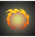 realistic fire flames isolated on transparent vector image vector image