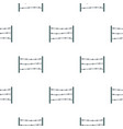 restricted area pattern seamless vector image vector image