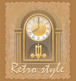 retro style poster old clock vector image vector image