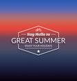 Retro summer vintage label on dark background vector image vector image