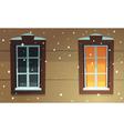 Retro Windows in Snow vector image vector image