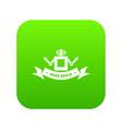 robot brain icon green vector image