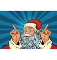 Santa Claus makes a gesture of attention vector image vector image