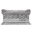 sarcophagus of scipio vintage vector image vector image