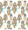 Seamless with dream catchers vector image vector image
