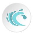 seaway icon circle vector image vector image