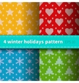 Set of 4 knitted patterns vector image vector image