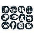 set of funny and scary signs of the zodiac vector image vector image