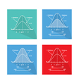 Set of Standard Normal Distribution Curve Chart vector image vector image