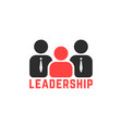 simple leadership logo like team work vector image