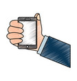 smartphone hand holding icon image vector image vector image