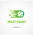 sport template logo vector image vector image