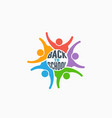students group back to school logo vector image vector image