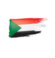 sudan flag on a white vector image vector image