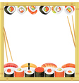 sushi frame vector image vector image