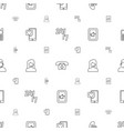 telephone icons pattern seamless white background vector image vector image