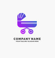 trolly baby kids push stroller purple business vector image