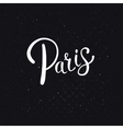 White Paris Text on an Abstract Black Background vector image vector image