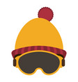 winter beanie hat and glasses vector image vector image