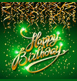 concept party on green dark background top view vector image