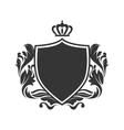 shield ornament crown vector image