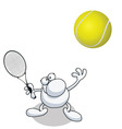 man tennis vector image