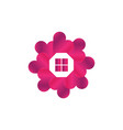 house valentine symbol vector image