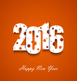 New Year wishes with circles on an orange vector image