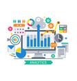analytics information tools vector image