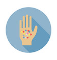 pills in hand icon vector image