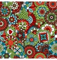 Vintage background colored red green and brown vector image