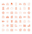 49 residential icons vector image vector image