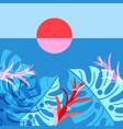 a tropical landscape vector image vector image