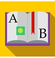 ABC Book icon in flat style vector image vector image
