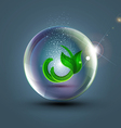 abstract background with ball and plant vector image vector image