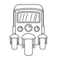 auto rickshaw icon outline style vector image vector image