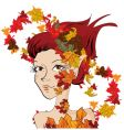autumn fairy vector image vector image